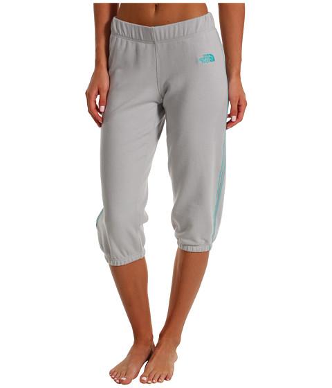 Pantaloni The North Face - Logo Stretch Capri - High Rise Grey/Ion Blue