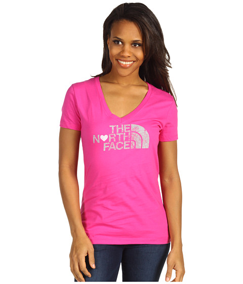 Bluze The North Face - S/S Luv Tree V-Neck Tee - Linaria Pink