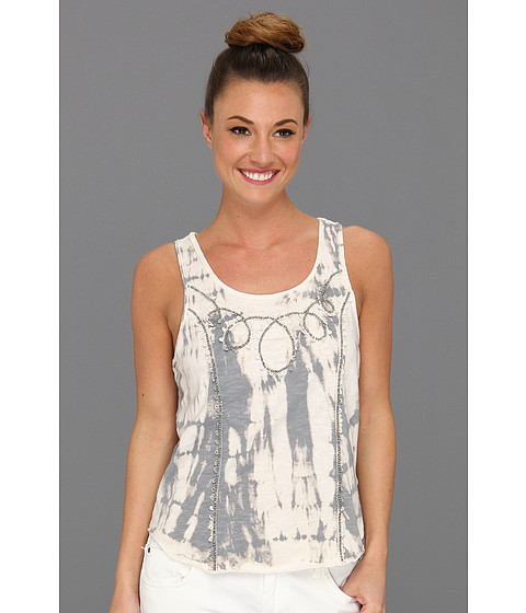 Tricouri Free People - Zen Tie Dye Embellished Tank Top - Silver