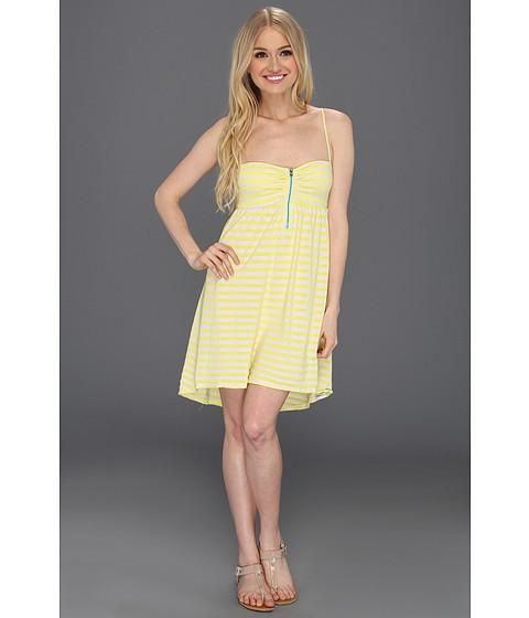Rochii Roxy - Sage Brush Dress - Acid Yellow Stripe