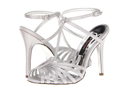 Pantofi Nina - Mariana - Silver Satin