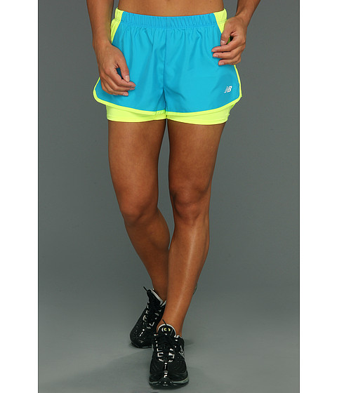 Pantaloni New Balance - Momentum 2 in 1 Short - Atomic Blue
