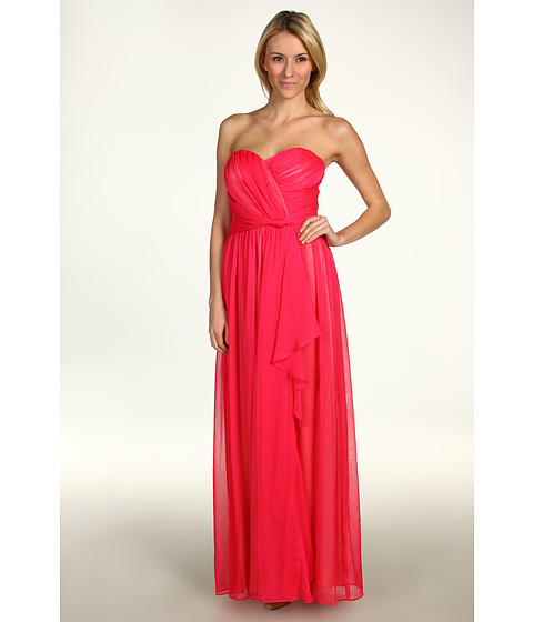 Rochii Jessica Simpson - Strapless Sweetheart Cascade Ruffle Gown - Cabaret Pink