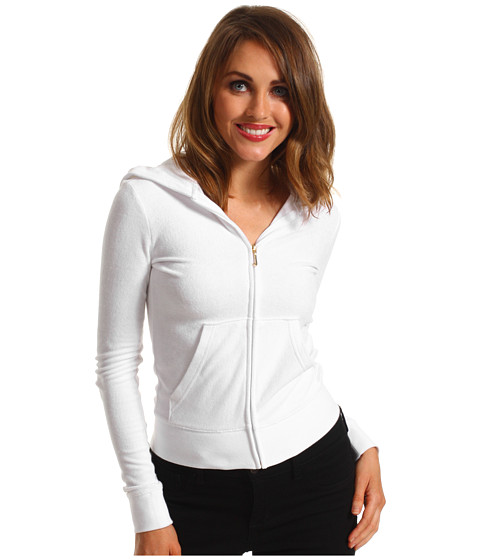 Bluze Juicy Couture - Original Terry Hoodie - White