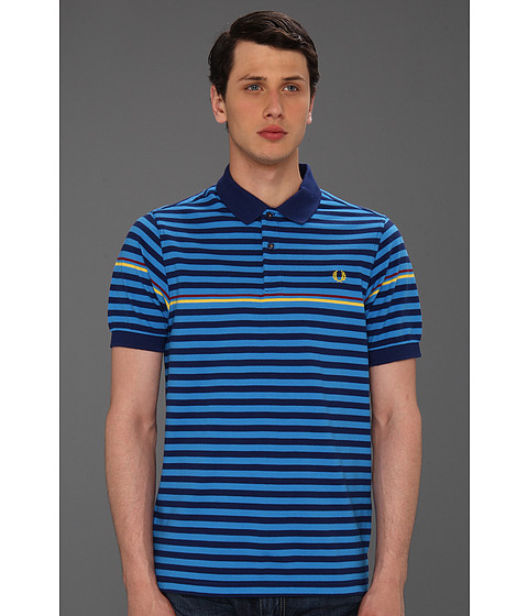 Tricouri Fred Perry - Tipped Stripe Polo - Medieval Blue