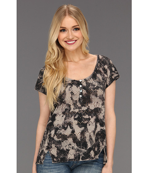 Tricouri Free People - Punched Eyelet Top - Stone