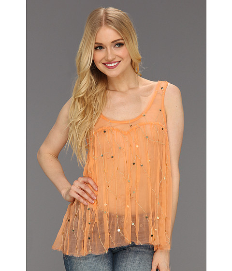 Tricouri Free People - Cami Embellished Top - Apricot
