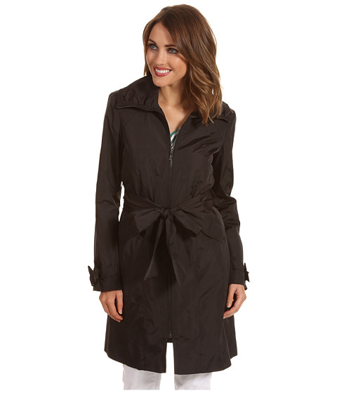 Jachete Cole Haan - Single Breasted Zip Bow Detail Trench - Black