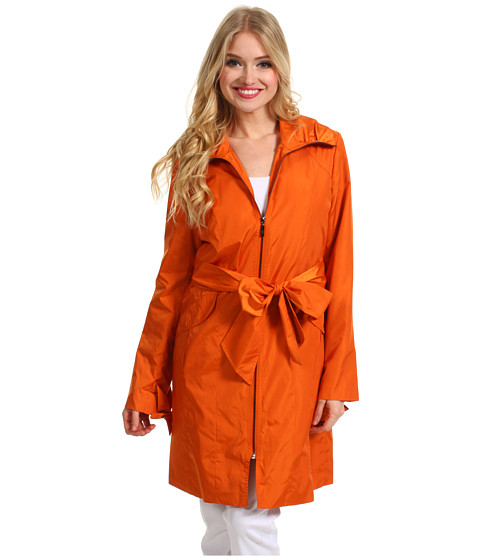 Jachete Cole Haan - Single Breasted Zip Bow Detail Trench - Tangerine