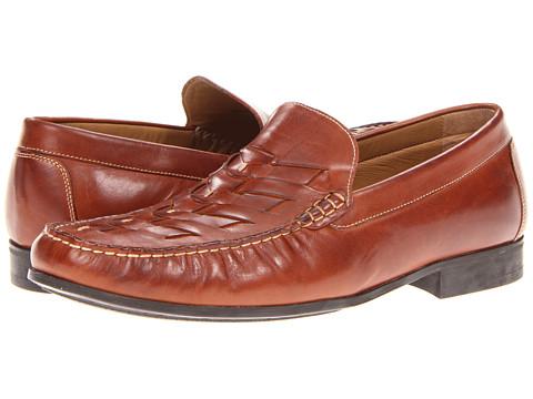 Pantofi Johnston & Murphy - Cresswell Woven Venetian - Dark Tan Calfskin