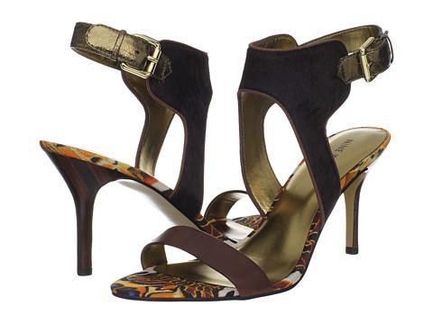Pantofi Nine West - GetReel - Dark Brown Multi Pony Hair