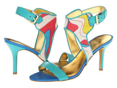 Pantofi Nine West - GetReel - Turquoise Fabric/Turquoise Fabric