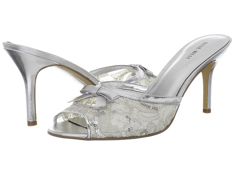 Pantofi Nine West - GoodAre - Silver/Silver Fabric