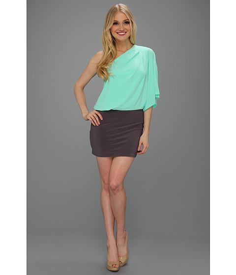 Rochii Jessica Simpson - One-Shoulder Mini Dress - Ice Green/Rabbit
