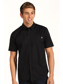 Camasi Volcom Why Factor Solid S/S Shirt Black | mycloset.ro