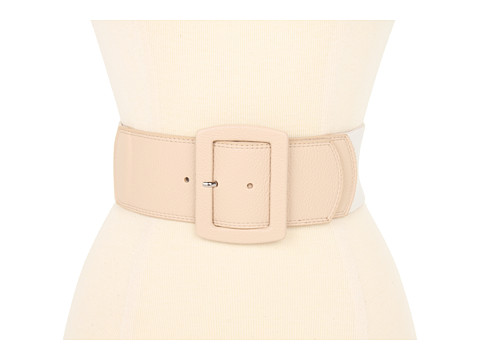 "Curele Calvin Klein - Calvin Klein 2 1/2"" Covered Buckle On Natural Linen Stretch - Sand"