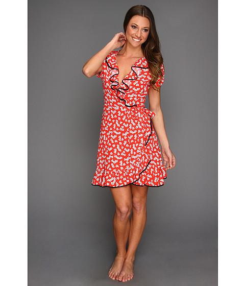 Rochii Juicy Couture - Heart Print Crepe Dress - Siren
