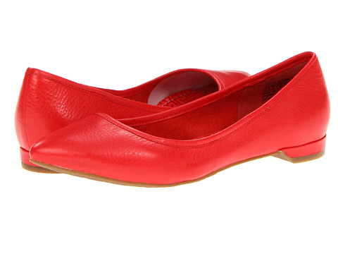 Balerini Rockport - Ashika Scooped Ballet - Poppy Red Leather