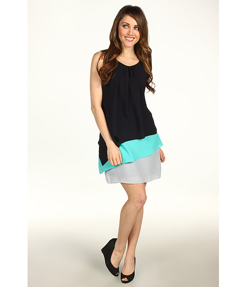 Rochii Max and Cleo - Jackie Tiered Colorclock Dress - Black
