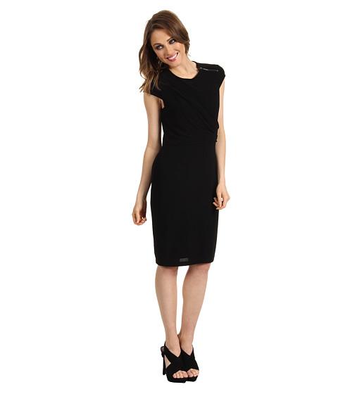 Rochii Vince Camuto - Cap Sleeve & Front Drape Dress - Black