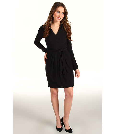 Rochii Vince Camuto - Collared Faux Wrap Dress - Black