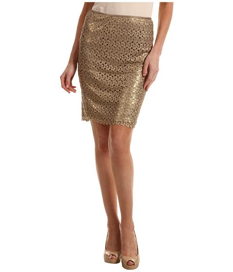 Fuste Calvin Klein - Short Crochet Skirt - Gold