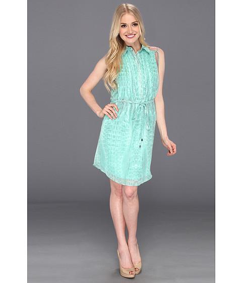 Rochii Jessica Simpson - Shirt Dress - Croc Ice Green