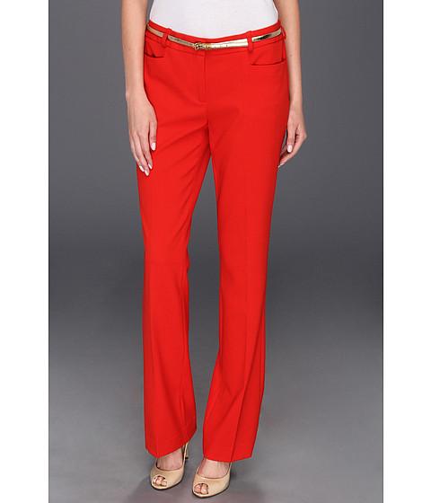 Pantaloni Calvin Klein - Lux Belted Pant - Poppy