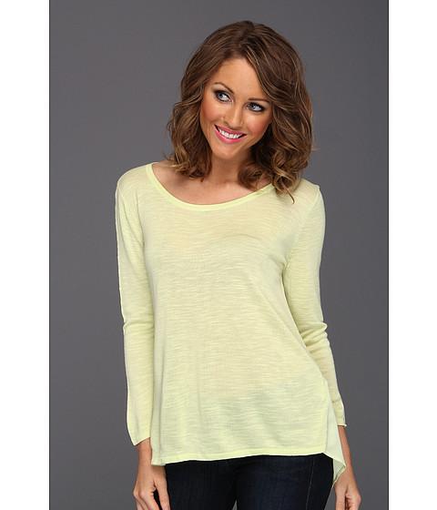 Tricouri Calvin Klein - Mixed Media Pullover - Key Lime