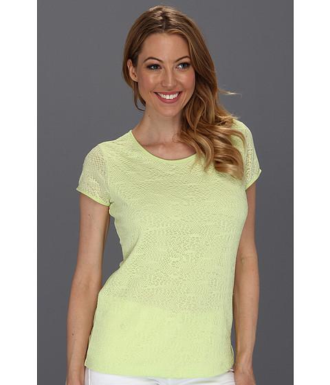 Tricouri Calvin Klein - Stretch Lace Tee - Key Lime