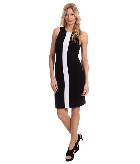 Rochii Karen Kane - Sleeveless Contrast Dress - Black/White