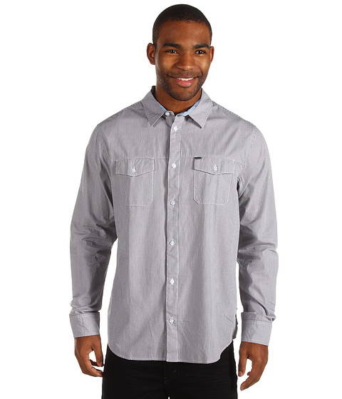 Camasi Rip Curl - Checked In L/S Shirt - Black
