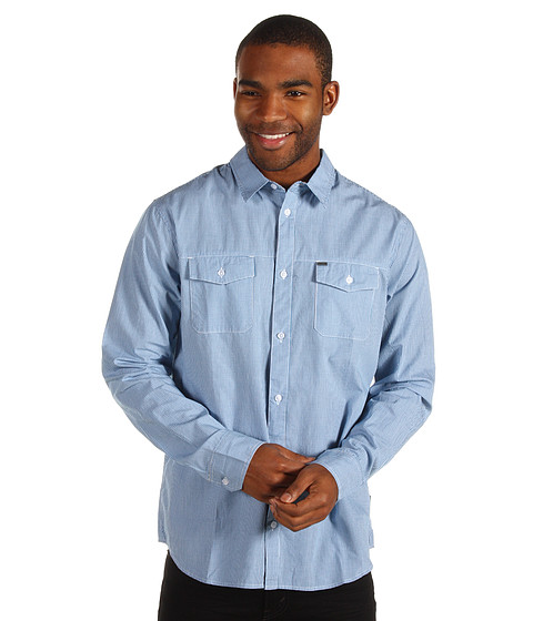 Camasi Rip Curl - Checked In L/S Shirt - Blue
