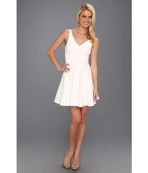 Rochii ABS Allen Schwartz - V-Neck A-Line Flounce Dress - Ivory