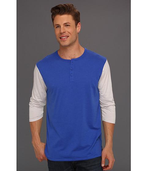 Bluze Nike - Classic Dri-FIT 3/4 Sleeve Henley - Game Royal/Gamma Grey