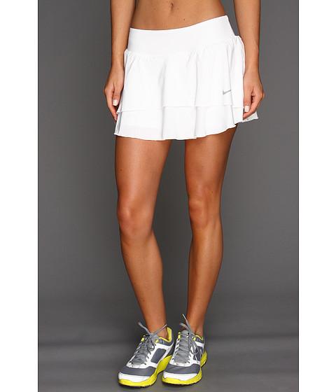 Fuste Nike - Flouncy Woven Skirt - White/Matte Silver