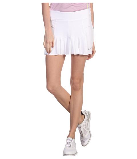 Fuste Nike - Pleated Knit Skort - White/Matte Silver