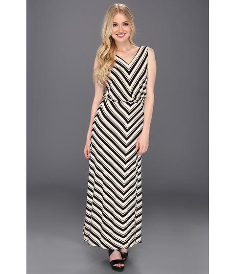 Rochii Calvin Klein - Rayon Sleeveless Blouson Maxi Dress - Bone/Black