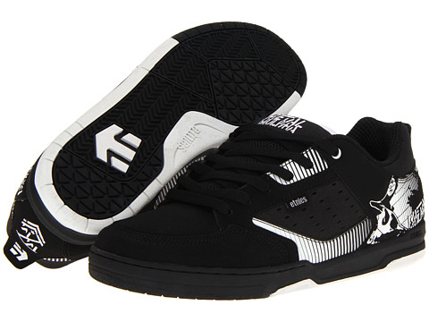 Adidasi etnies - Metal Mulisha Cartel - Black/White