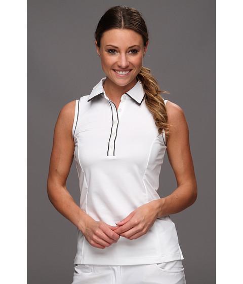Bluze adidas - ClimaLiteî Sleeveless Stretch Polo \13 - White/Black