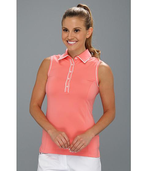 Bluze adidas - ClimaLiteî Sleeveless Stretch Polo \13 - Watermelon/White