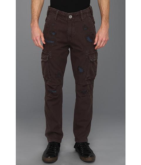 Pantaloni True Religion - Anthony Slim Twill Cargo Pant in Black - Black