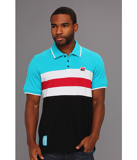 Tricouri L-R-G - Creative Currency S/S Polo - Turquoise
