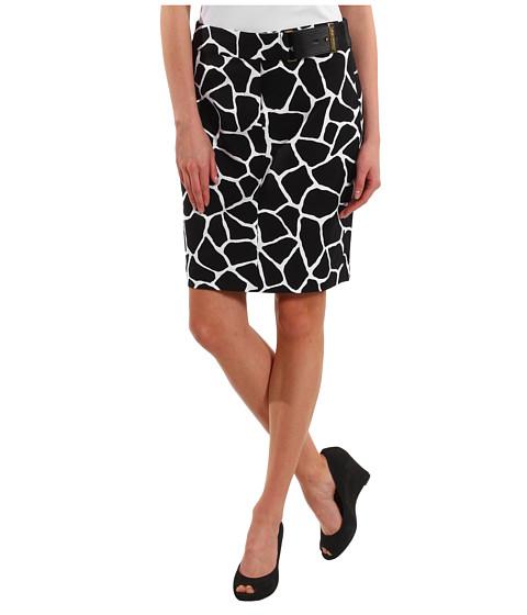 Fuste Michael Kors - Small Mod Giraffe Pencil Skirt - Black