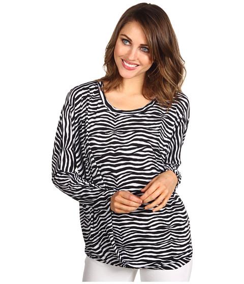 Bluze MICHAEL Michael Kors - Mini Roxy L/S Drape Hem Top - Black