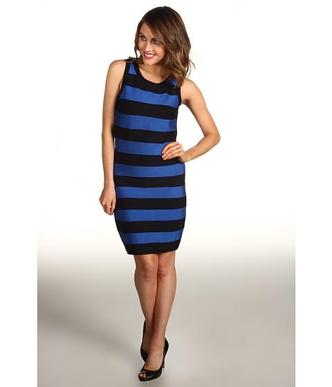 Rochii Michael Kors - Stripe Bandage Sleeveless Sweater Dress - Urban Blue