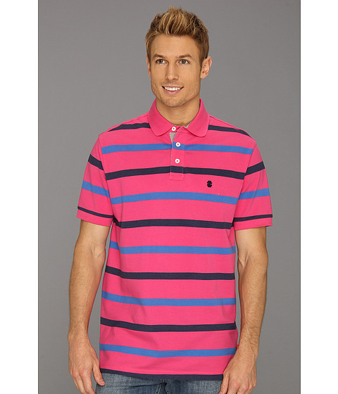 Tricouri IZOD - Short Sleeve Oxford Pique Stripe Polo Shirt - Fuchsia Purple