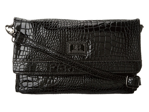 Genti de voiaj Kenneth Cole Reaction - Mercer Crossbody Croco - Black/Black