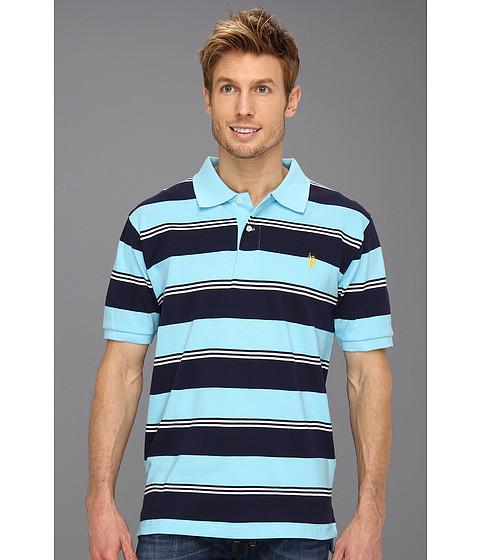 Tricouri U.S. Polo Assn - Yarn Dyed Striped Pique Polo - Horizon Blue/Navy