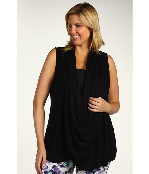 Tricouri DKNY - Plus Size Sleeveless Wrap Cozy w/ Snaps - Jet